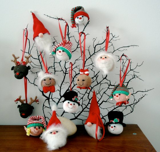 Christmas Ornaments - AmigurumiBB - Free Patterns