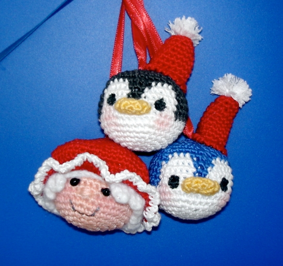 Penguin & MrsClaus Ornaments