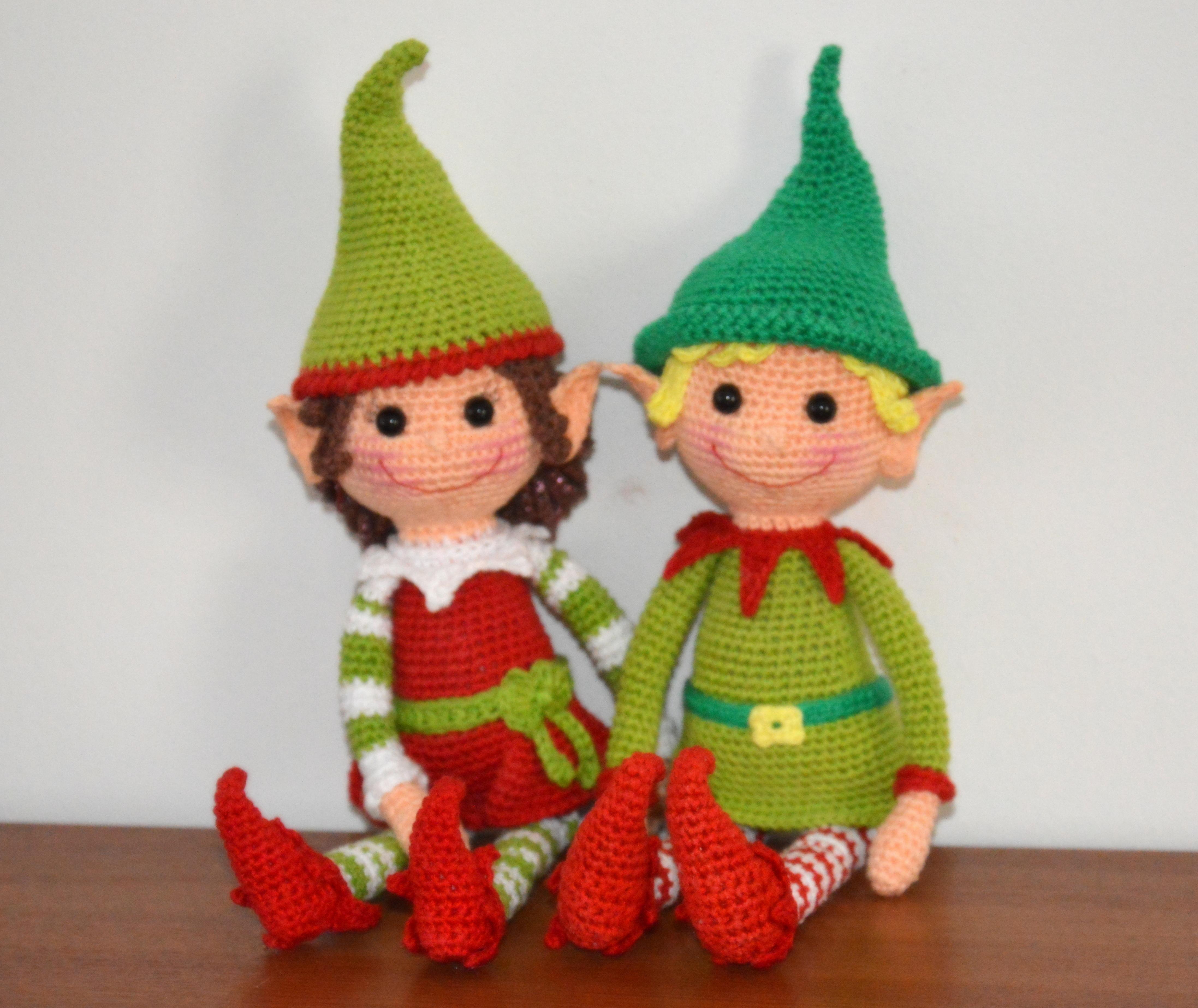Mini Elf Knitting Pattern : Christmas Elves Pattern AmigurumiBBs Blog